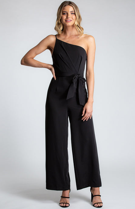One Shoulder Thin Strap Jumpsuit