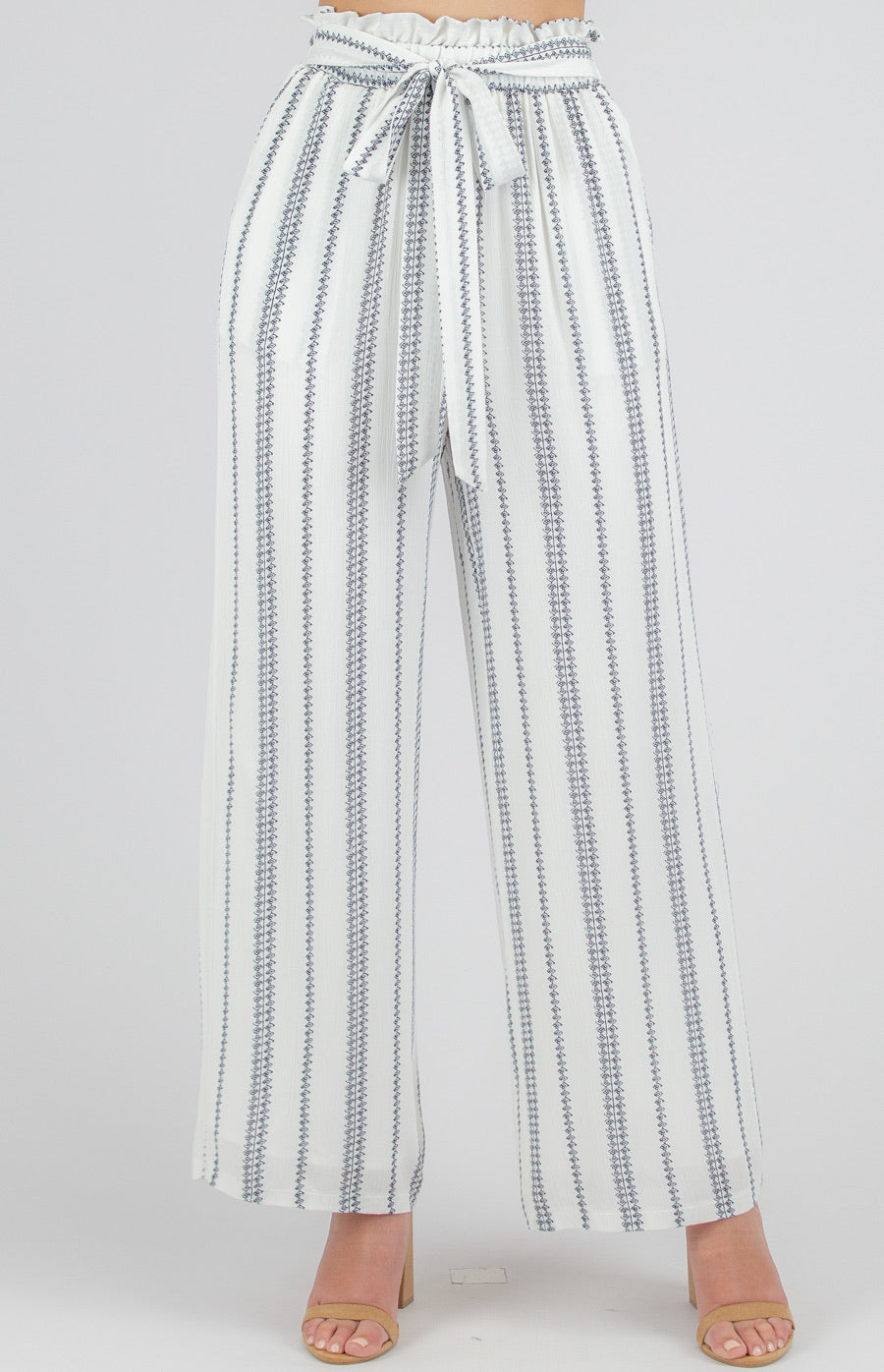 White stripe pant