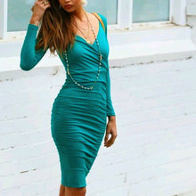 Off The Wall Midi Dress, Light Grey and Emerald