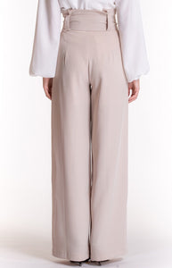 Legend High Wast Pant Beige
