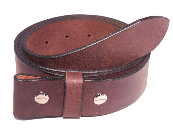 Leather Belt Strap with Chicago Screws