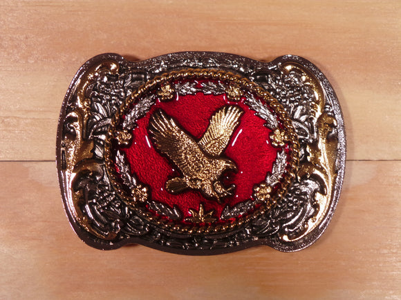 Flying Eagle Red Gold Belt Buckle