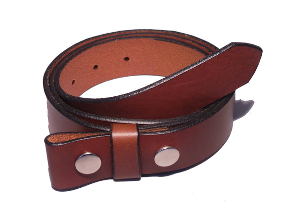 1 1/4 Inch Brown Leather Strap