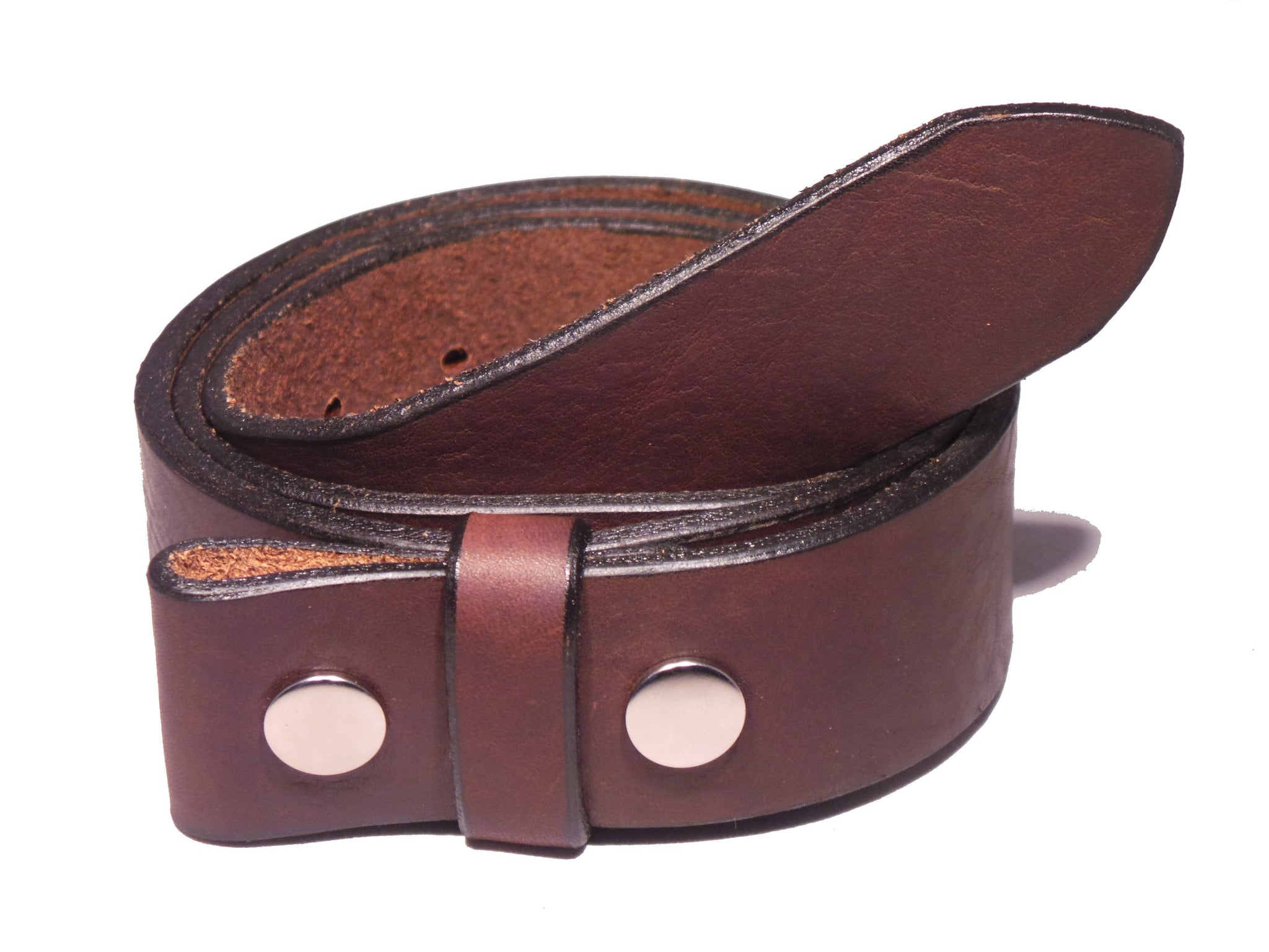 Men,s Genuine 100/% Real Leather Belt Snap On Strap Without Buckle Belt Snaps