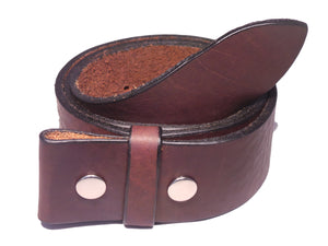 1 3/4 Inch Dark Brown Belt Strap