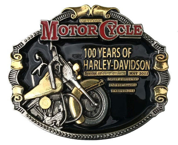 100 Years Harley Davidson Belt Buckle
