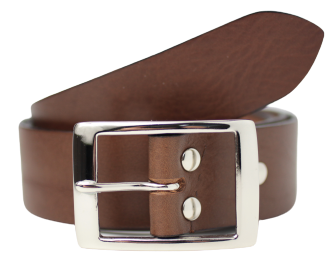 1 1/2 Inch Wide Brown Leather Belt