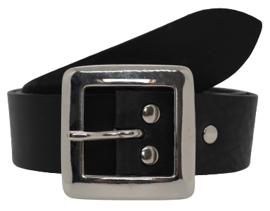 1 1/2 Wide Black Leather Belt