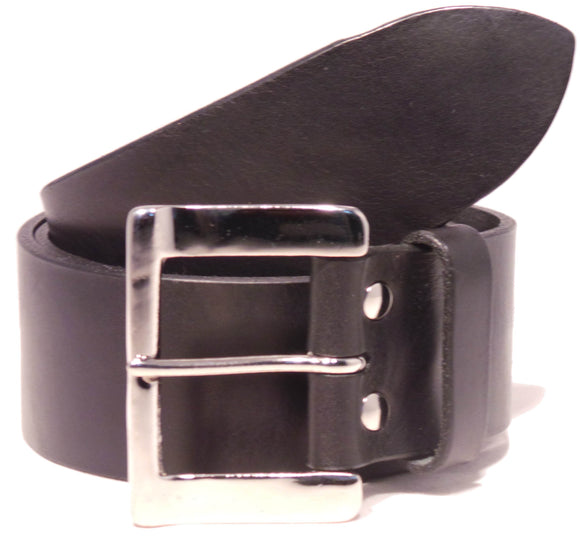 Black 2 Inch Belt with Silver Buckle