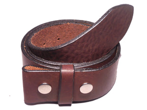 2 Inch Dark Brown Leather Strap