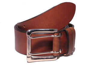 2 Prong Silver Buckle 2 Inch Belt