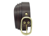 32mm Dark Brown Leather Trouser Belt
