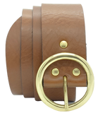 50mm Brown Leather Belt