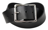50mm Wide Black Leather Belt