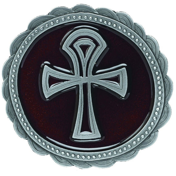 Amon Ankh Cross Red Belt Buckle
