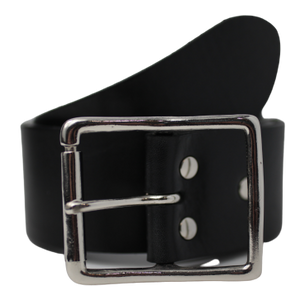 Black 50mm Leather Belt