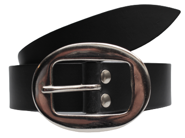 Black Leather Trouser Belt