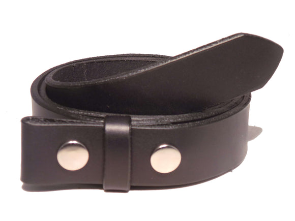 Black 1 1/4 Leather Belt Strap