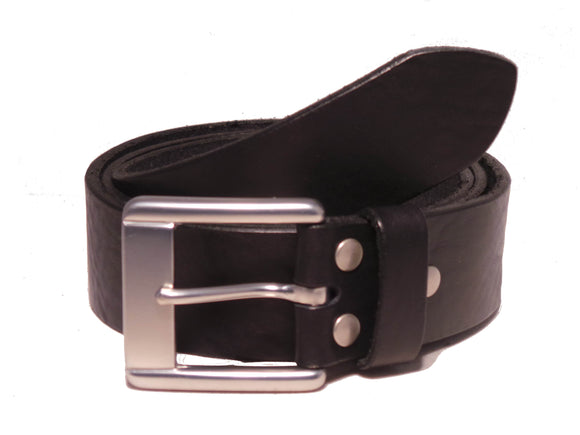 Black 1.5 Leather Trouser Belt
