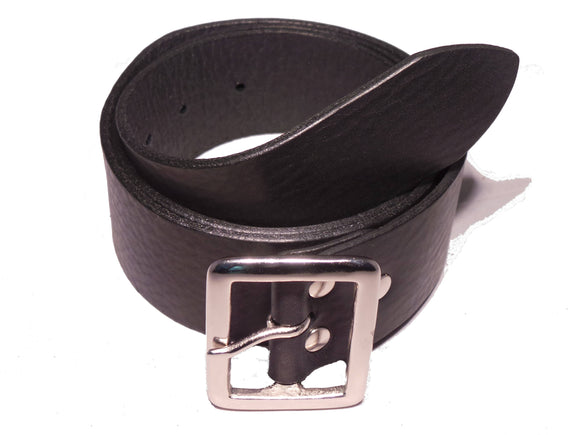 Black 1.75 Wide Leather Belt