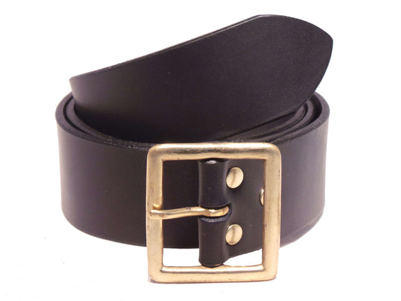 Black 1 3/4 Inch Wide Leather Belt