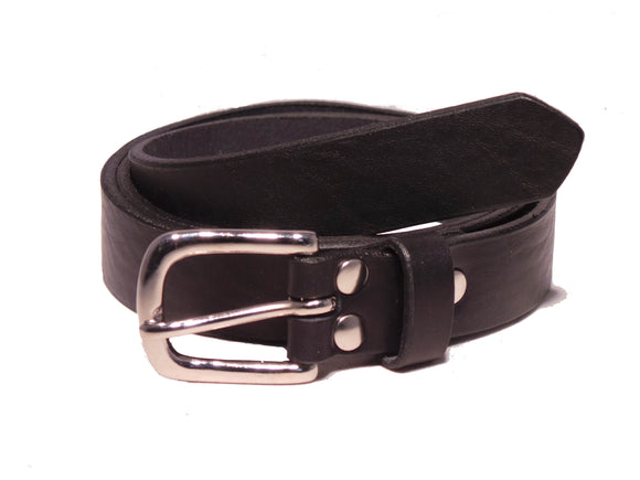 1 Inch Black Leather belt