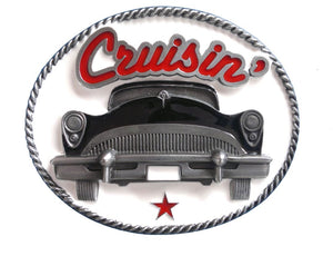 Black Cruisin Belt Buckle