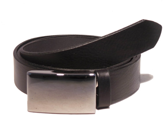 Black Leather 1.25 Inch Belt