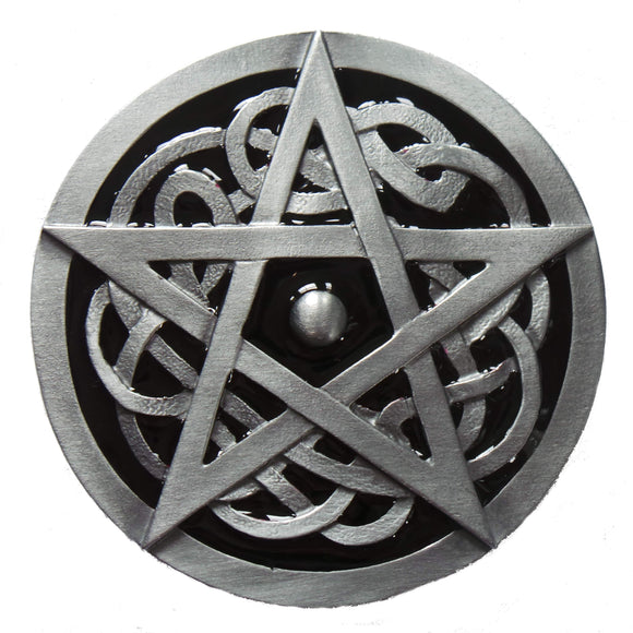Black Pentagram Belt Buckle
