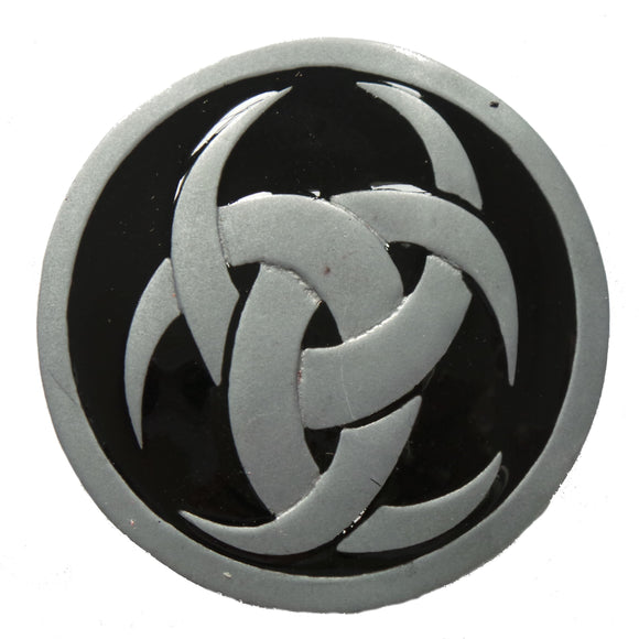 Black Runic Knot Belt Buckle