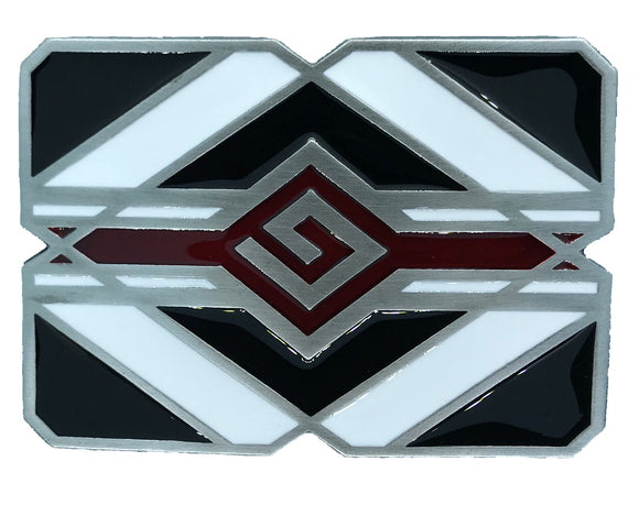 Black and White Indian Belt Buckle
