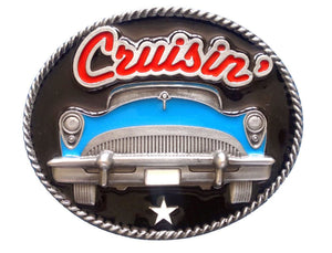 Blue Cruisin Belt Buckle