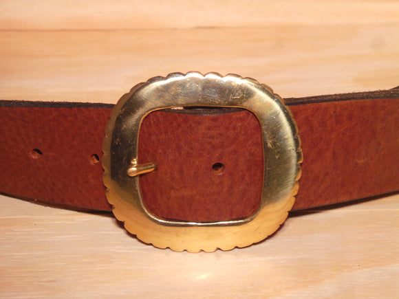 Brass Nicked Edge Buckle