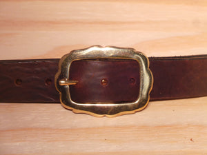 "1 1/4"" Inch Brass Rounded Sides Buckle"
