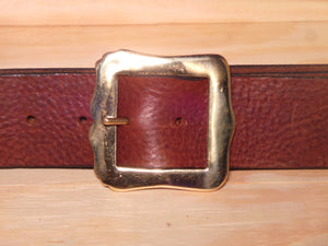 "1 3/4"" Inch Brass Shield Buckle"