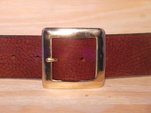 "1 3/4"" Inch Brass Square Buckle"