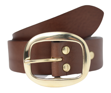 Brown 1.5 Inch Wide Belt