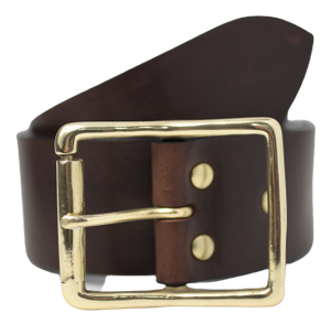 Brown 2 Inch Leather Jean Belt