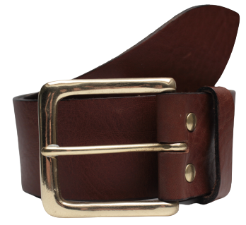 Brown Leather Jean Belt