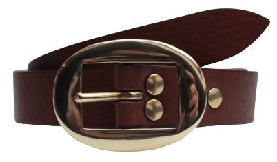 Brown Leather Trouser Belt