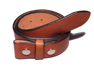 "1 1/2"" Inch Brown Leather Belt Strap"