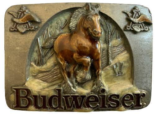 Budweiser Brown Horse Belt Buckle