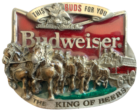 Budweiser This Buds For You Belt Buckle