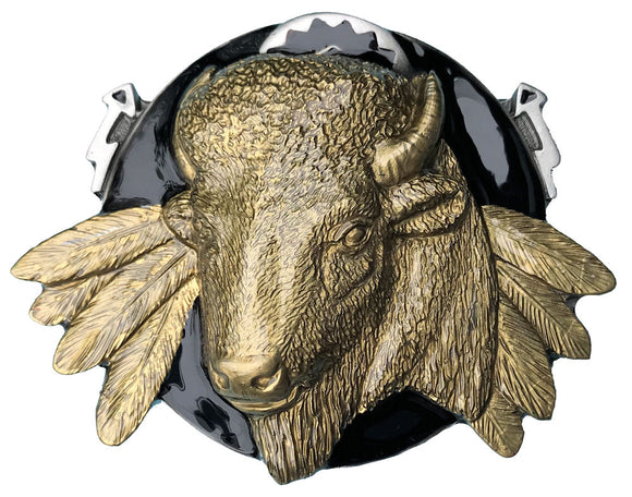 Buffalo Head Belt Buckle