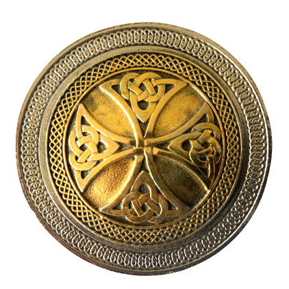 Celtic Cross Gold Belt Buckle