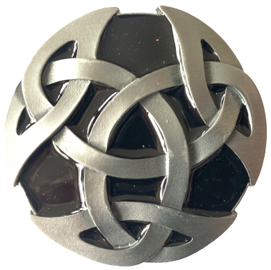 Celtic Design Black Belt Buckle