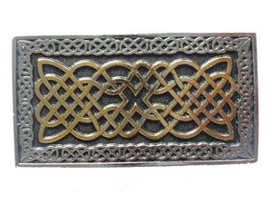 Celtic Rectangle Border Belt Buckle