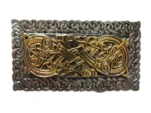 Celtic Oblong With Border Belt Buckle