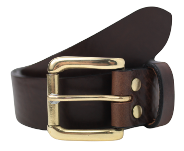 Dark Brown 1 1/2 Inch Jean Belt