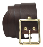 Dark Brown 2 Inch Leather Belt
